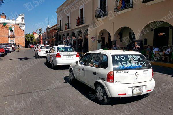 Exigen taxistas al gobierno  del Estado mayor seguridad