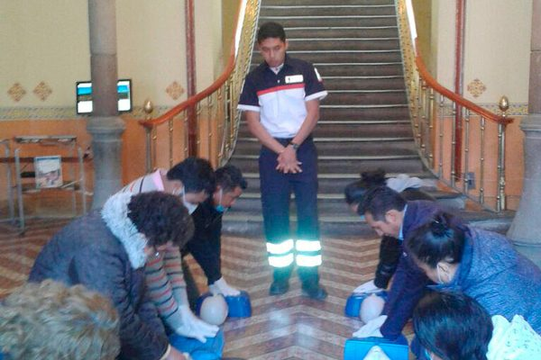 Capacitan a personal de Secture en primeros auxilios y protección civil