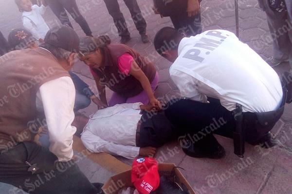 Un hombre de 64 años de edad murió después de ser atropellado en la calle Morelos del municipio de Contla de Juan Cuamatzi, accidente ocasionado por un motociclista que transitaba con exceso de velocidad. /EL SOL DE TLAXCALA