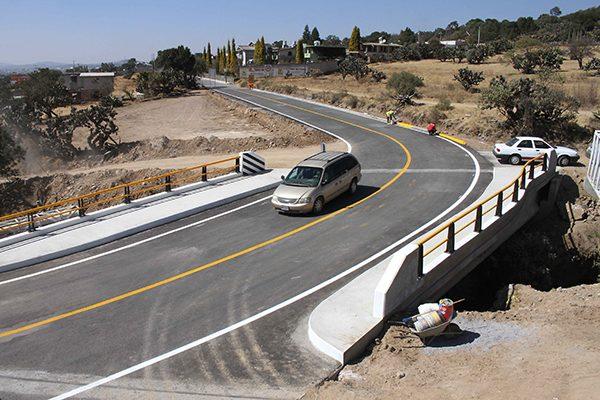 Concluye Secoduvi construcción de puente vehícular en Tetla
