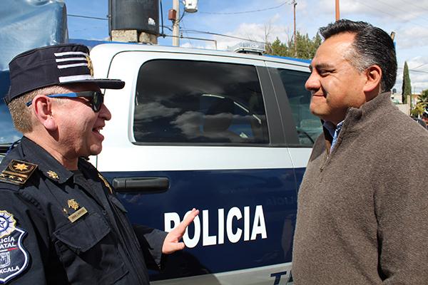 Eleazar Molina Pérez, alcalde de Tetla de la Solidaridad, anunció un combate frontal contra la delincuencia. /Tomás BAÑOS. /Tomás BAÑOS