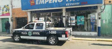 """En persecución, captura policía de Chiautempan a tres sujetos que asaltaron """"Empeño Fácil"""""""