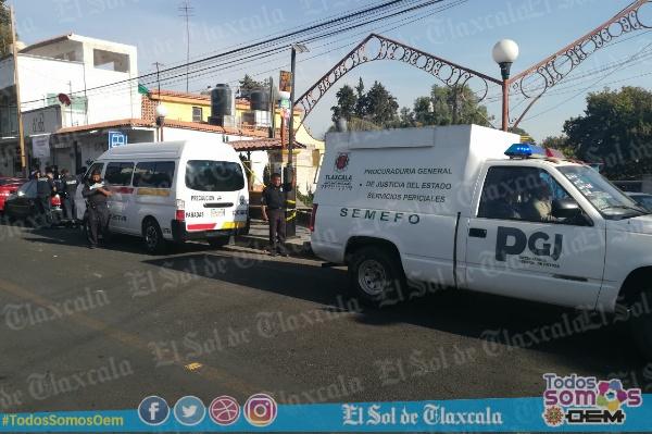 Muere mujer en camioneta  colectiva al dirigirse al mole a Totolac