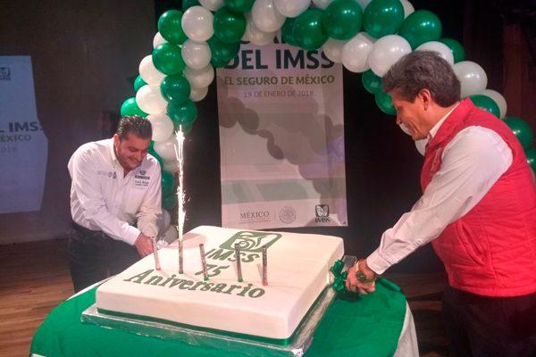 Festejan en Tlaxcala 75  años de vida del IMSS
