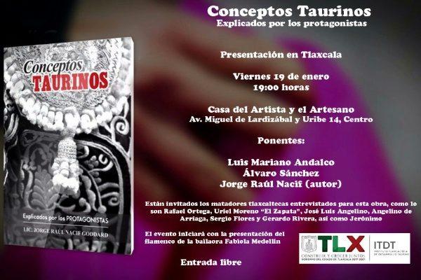 """Presentará ITDT el libro """"Conceptos Taurinos Explicados por los protagonistas"""""""