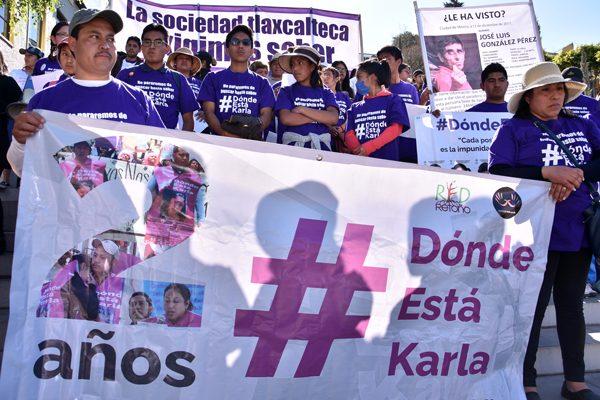 Exigen justicia, a dos años  de la desaparición de Karla