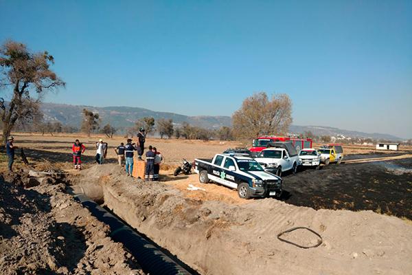 El fuego consumió 15 hectáreas de terrenos de labor en las zonas de Tepalcatera, Aculco y la Cruz pertenecientes al municipio de Panotla