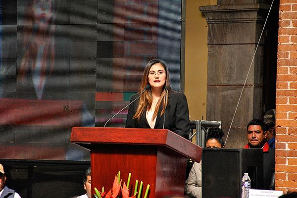 La alcaldesa Gardenia Hernández anunció cambios en la dirección de seguridad pública municipal, con el fin de garantizar la seguridad de los pobladores. /EL SOL DE TLAXCALA