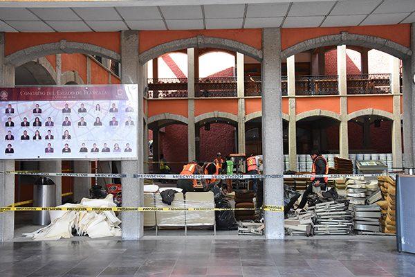Avanza remodelación de Palacio Legislativo