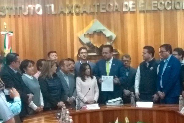 """""""Por Tlaxcala al Frente"""" solicita al ITE registro de coalición"""