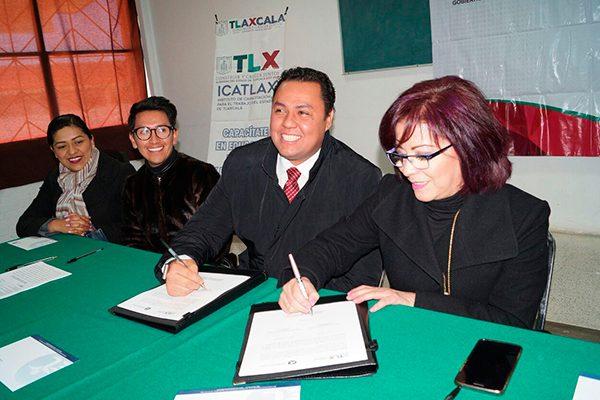 Firman convenio Icatlax  y Asociación de Empresas  y Empresarios de Tlaxcala