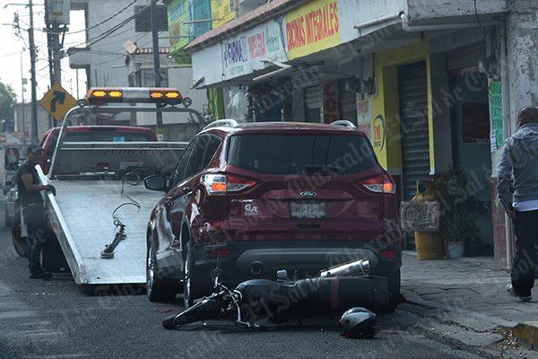 Deja dos lesionados leves accidente vial en Totolac