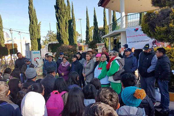 """Efectúa ayuntamiento de Tlaxcala """"Jornada de limpieza"""" en Ixtulco"""