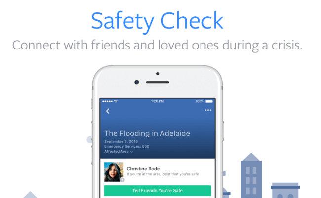 "Facebook habilita función permanente de ""Safety Check"" tras recientes atentados"