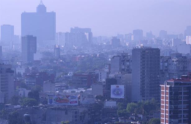 Este jueves la calidad del aire es de regular a mala en el Valle de México
