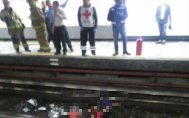 Doble muerte en el Metro; vagonero cae a las vías y otro muere electrocutado