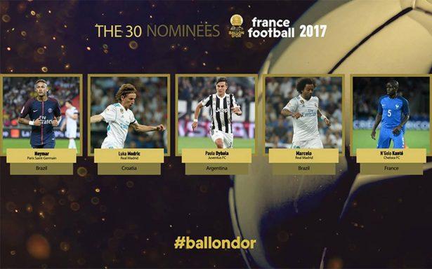 Neymar, Dybala y Marcelo, entre los nominados al Balón de Oro