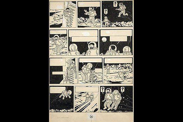 Dibujo de Tintin en la Luna se vendió en 1.64 mdd
