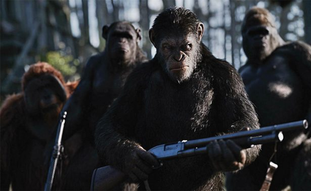 La guerra del planeta de los simios se coloca en el número uno en taquilla