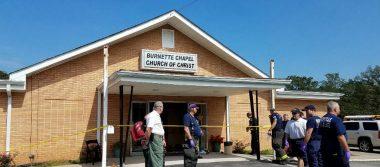 Tiroteo en iglesia de EU deja un muerto y siete heridos