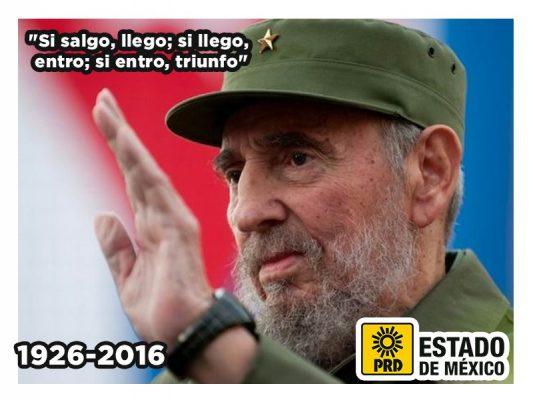 Lamenta izquierda muerte de Fidel Castro