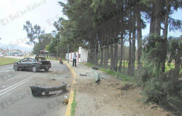 Se lleva poste, árbol y malla del Alameda 2000