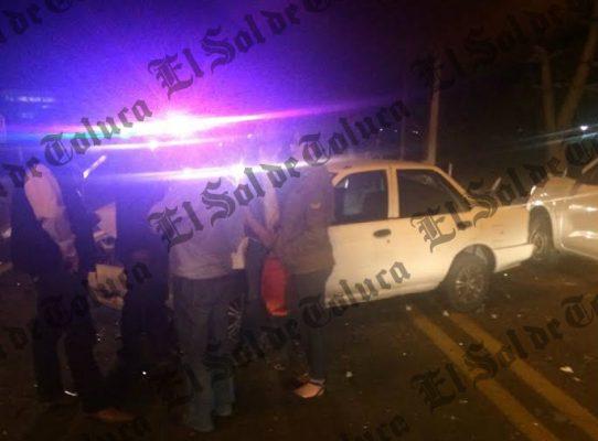 Accidente en la carretera Tenango-Ixtapan de la Sal deja siete lesionados