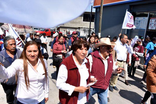 Se compromete Delfina Gómez a equipar hospitales y clínicas