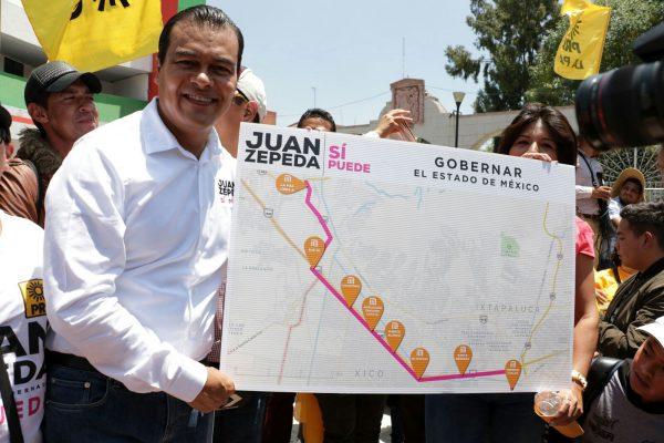 Ofrece Zepeda nueva línea del metro en La Paz