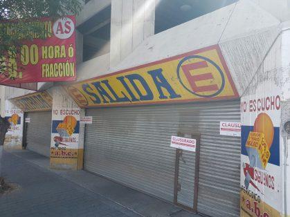 Clausura SAT estacionamiento en centro de Toluca