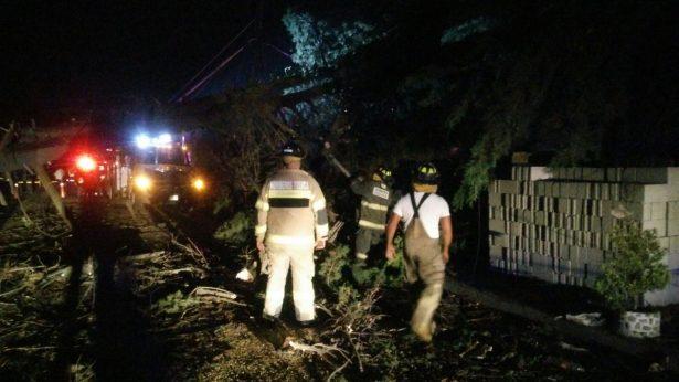 Recuento de los daños por la tromba registrada ayer en Toluca