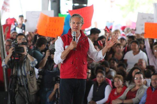 Promete Del Mazo resolver el problema del agua en Ecatepec
