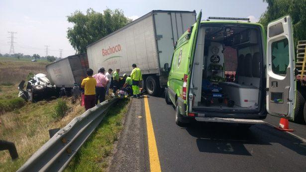 Protagoniza tráiler accidente carretero en Ixtlahuaca