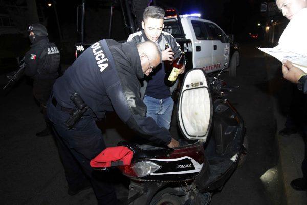 Aseguran motonetas en Ecatepec