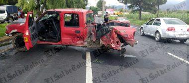 Accidente en la Toluca-Tenango deja cinco lesionados