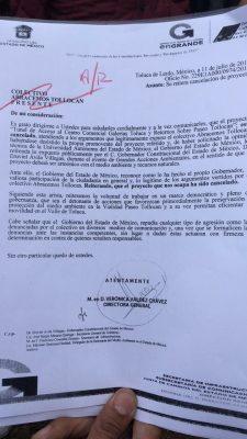 Oficializa GEM cancelación de la obra en Paseo Tollocan