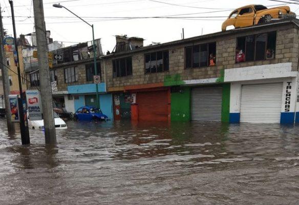 [Galería] Se registran inundaciones en varios puntos de Toluca y Metepec