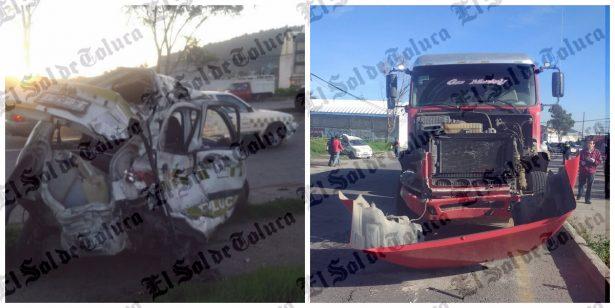Muere un hombre en aparatoso accidente en Zinacantepec