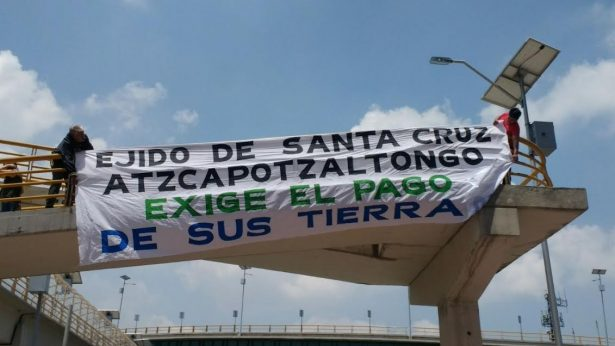 Ejidatarios piden pago de sus tierras a SCT