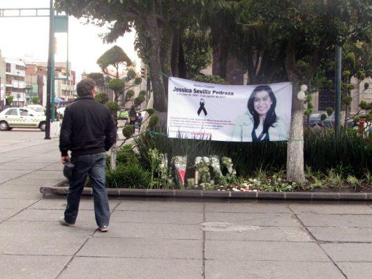 El altar del feminicidio de Jessica