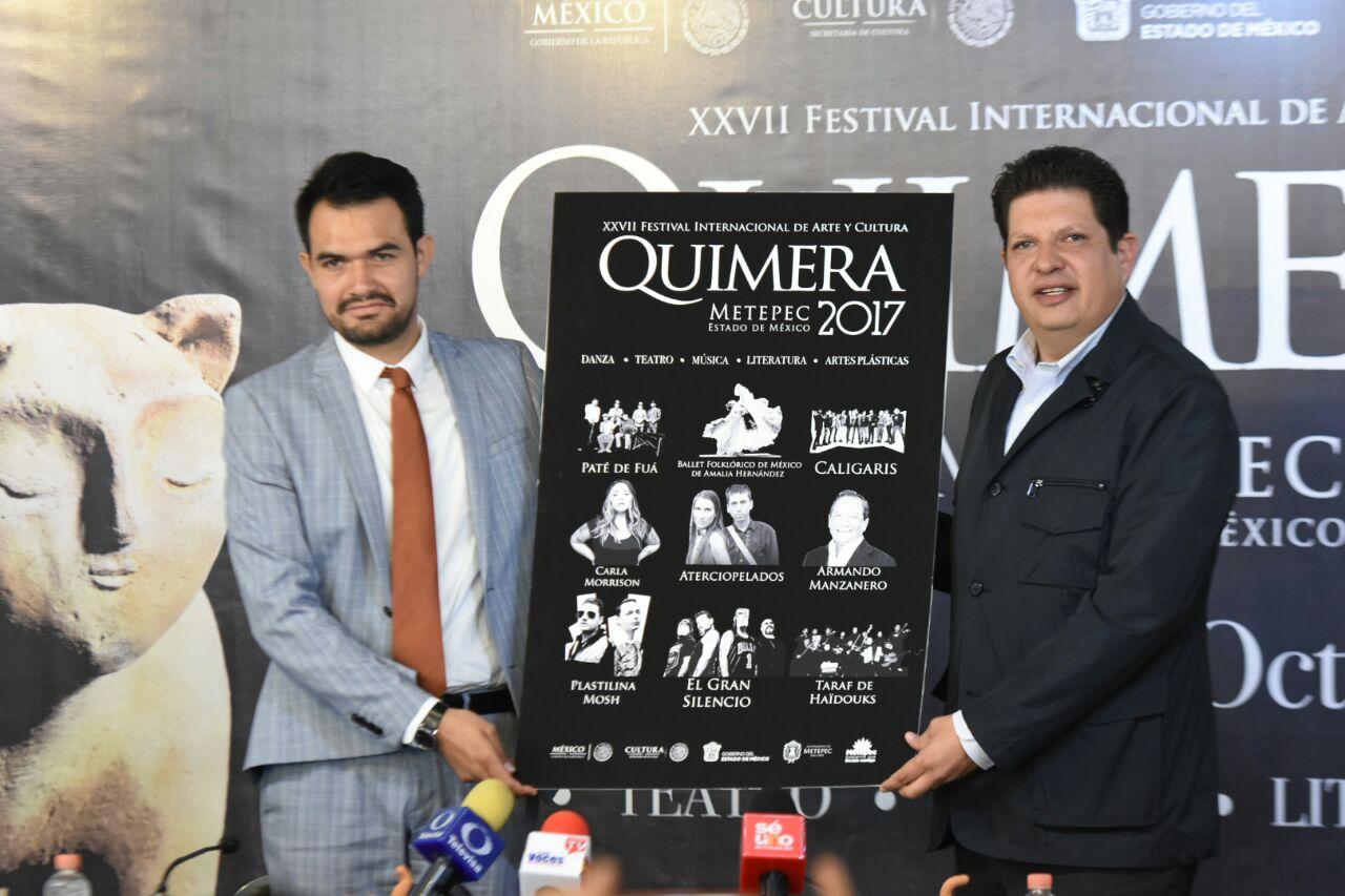 El cartel del Festival fue presentado por David López Cárdenas  (Foto Daniel Camacho)