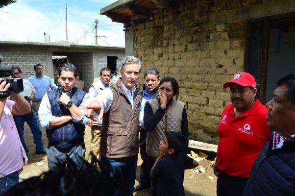 Solicitará Del Mazo declaratoria de desastre para los 12 municipios más afectados