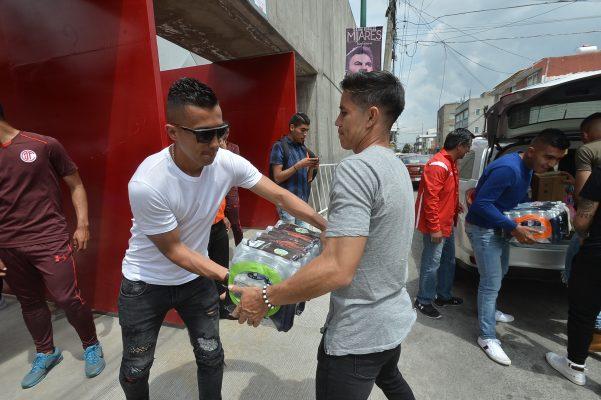 Apoya Club Toluca a damnificados por sismo