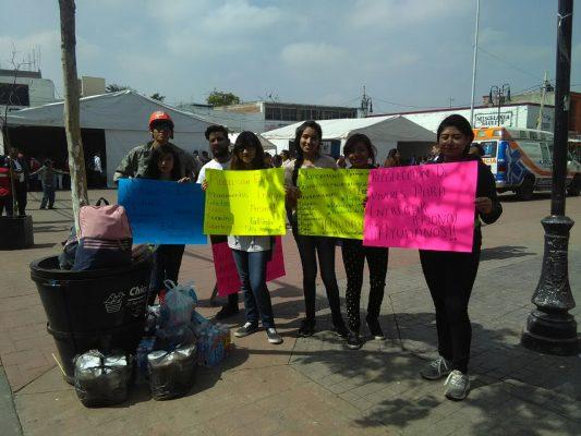 Se suman voluntarios en la colecta de víveres para damnificados del Edomex