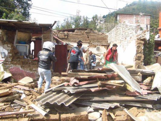 Claman ayuda en Ocuilan; el panorama luce desolador