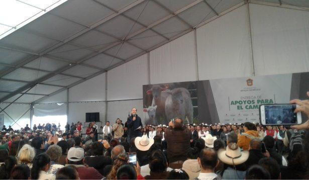 Entrega Del Mazo más de 40 mdp en beneficio de los productores mexiquenses