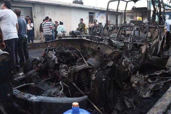 #ElSolEnGráficas    Un fuerte incendio se registró en Melchor Ocampo