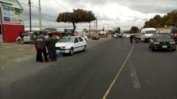 Atropellan a persona de la tercera edad en Zinacantepec