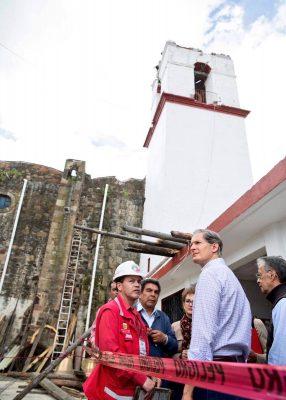 Afectados 199 templos mexiquense por sismo : Del Mazo