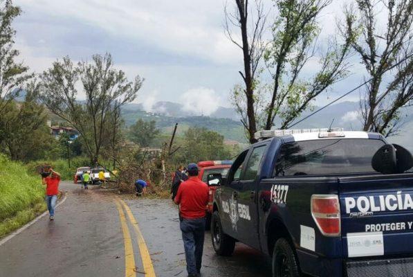 Avanza reparación de carreteras afectadas en Edomex tras sismo